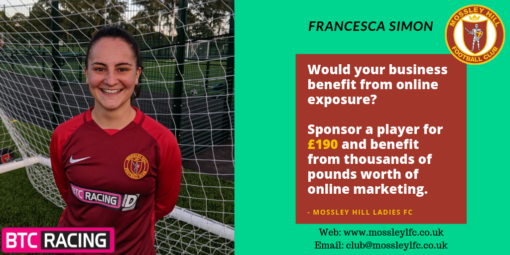 Francesca Simon Player Sponsor
