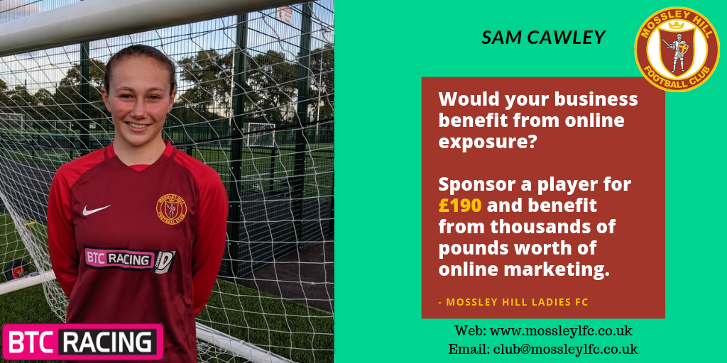 Sam Cawley Player Sponsor