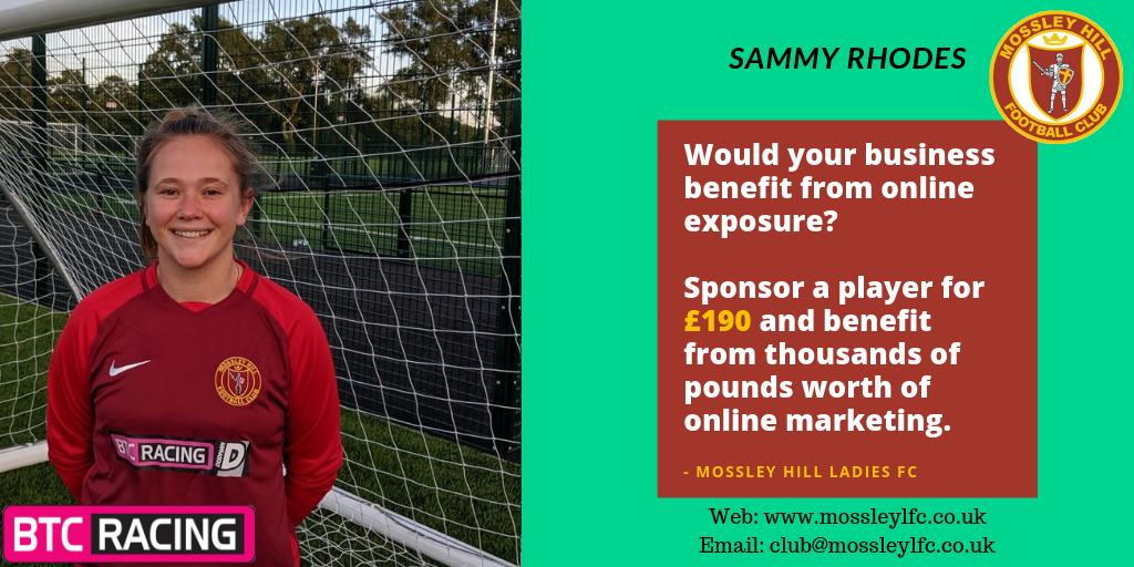 Sammy Rhodes Player Sponsor